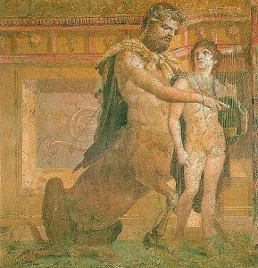 578px-Chiron_instructs_young_Achilles_-_Ancient_Roman_fresco