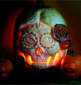 sugar_skull_with_beet_roses_by_snerk-d31psnr
